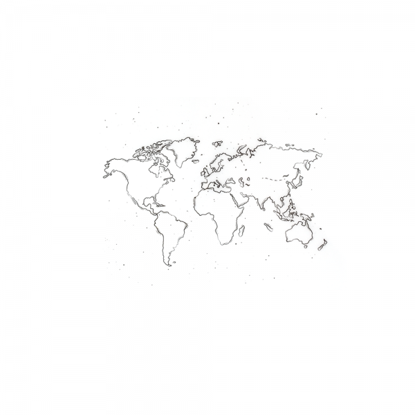 Cling Stamp 'World Map' Background