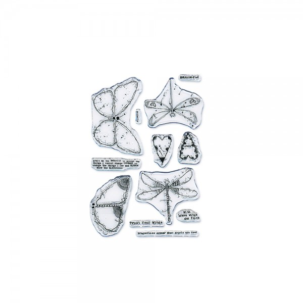 Clear Stamp Set A6 'Sketchy Dragonflies & Butterflies'