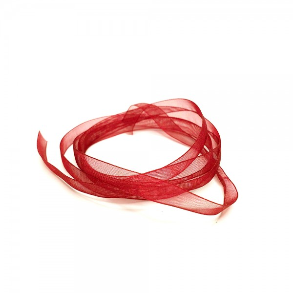 Organza ribbon 7mm 'Red'/yard goods