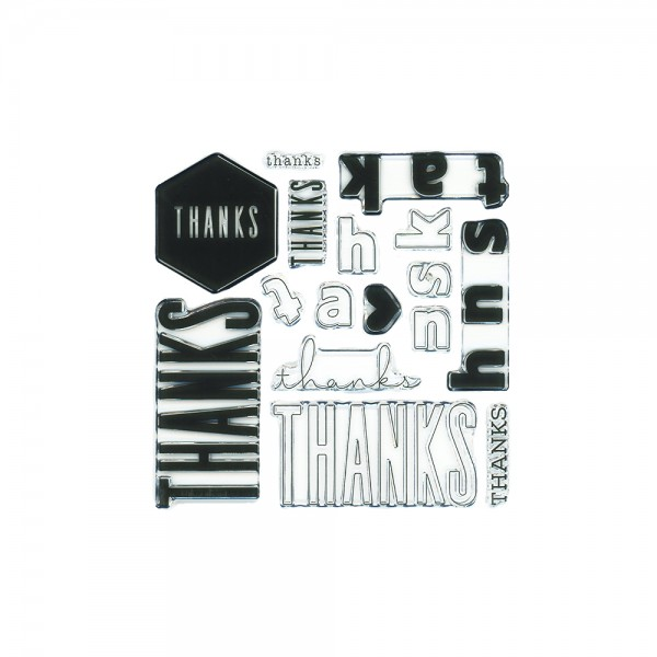 Clear Stamp 'All the Thanks Stamp Set'