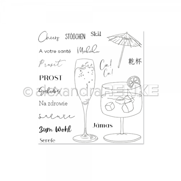 Clear Stamp 'Cheers'