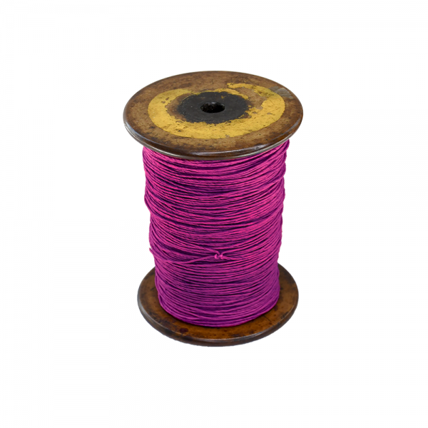 'Strong Paper Twine on Old Reclaimed Silk Bobbin - Violet - 1m'