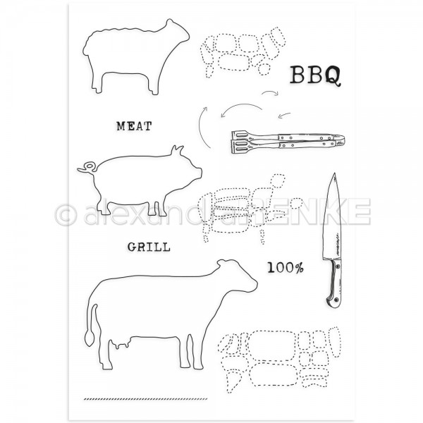 S'-Clear Stamp 'Gourmet Tiere'