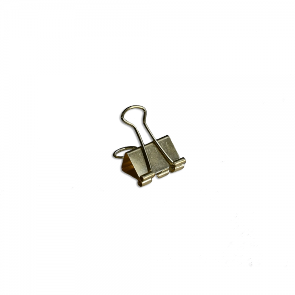 Solid Binder Clips small gold