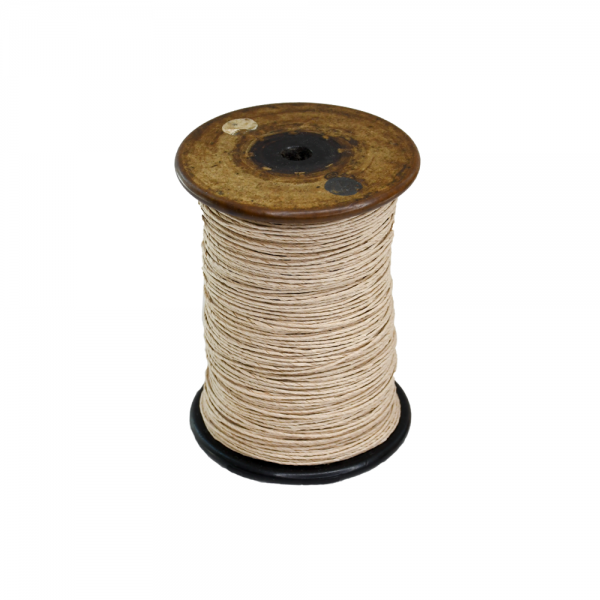 'Strong Paper Twine on Old Reclaimed Silk Bobbin - Natural - 1m'