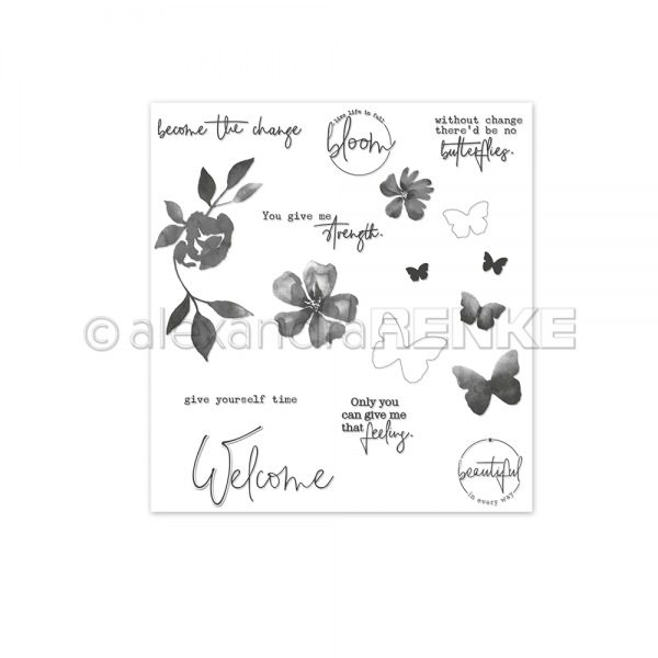 Clear Stamp 'Welcome butterflies'