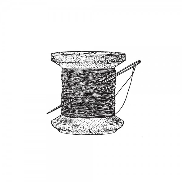 Cling Stamp 'Needle and thread'