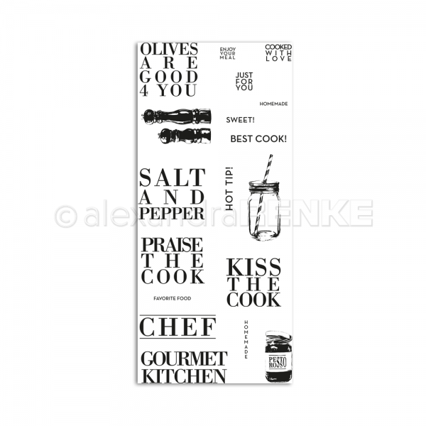 S'-Clear Stamp 'Kiss the cook'