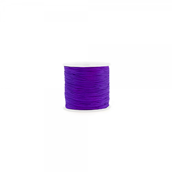Makramee Kordel 0,8 mm 'Electric Purple' /Meterware