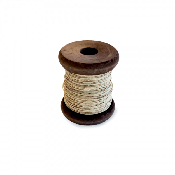'Strong Paper Twine on Old Reclaimed Silk Bobbin - Natur - 30m'