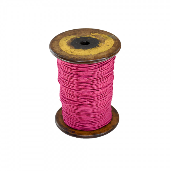 'Strong Paper Twine on Old Reclaimed Silk Bobbin - Dusty Pink - 1m'
