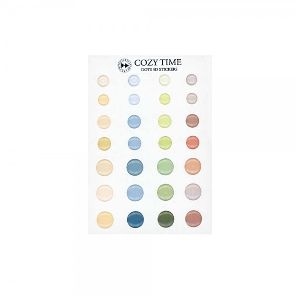 3D Sticker Dots 'Cozy time'