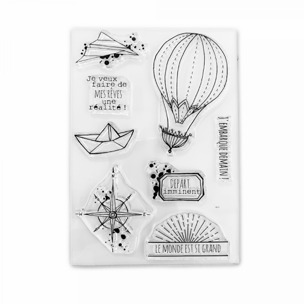 Clear Stamp Set 'Départ Imminent'