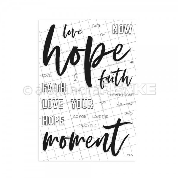 Clear Stamp 'Lettering HOPE'