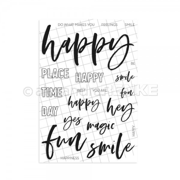 Clear Stamp 'Lettering HAPPY'