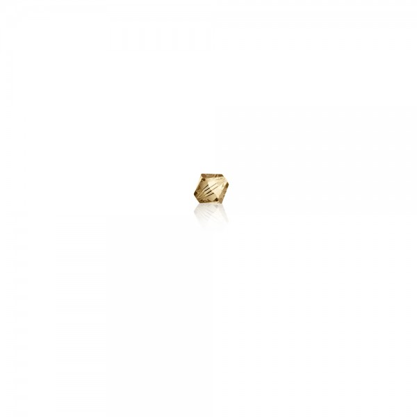 Swarovski-Perle 'Xilion Bead - Crystal Golden Shadow' 3 mm