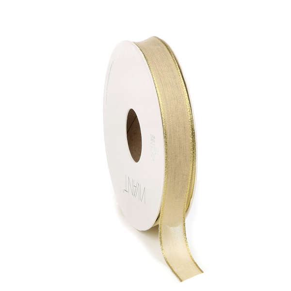 Decorative ribbon with gold edge 'Gold'
