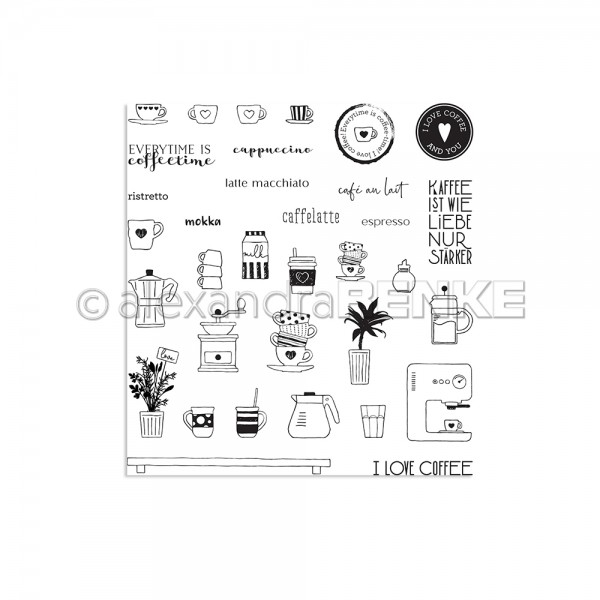 Clear Stamp Set 'Kaffee Icons'