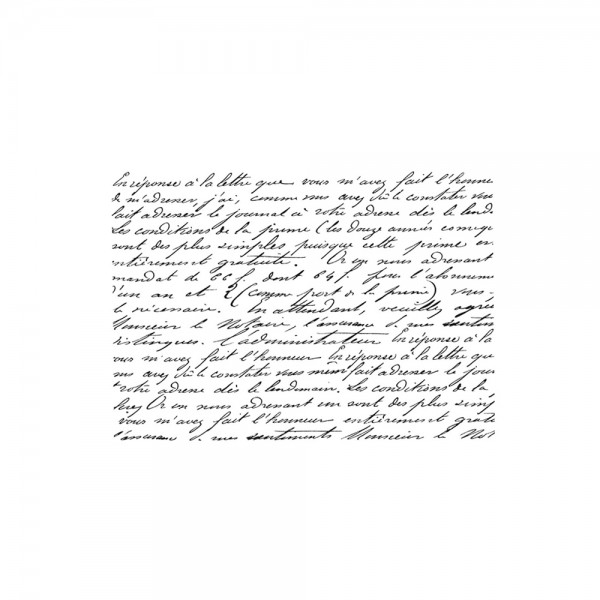 Cling Stamp 'French Script'