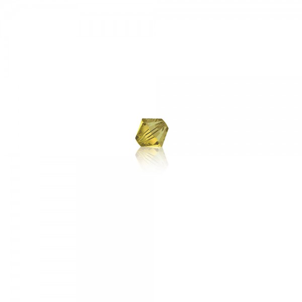 Swarovski-Perle 'Xilion Bead - Light Topaz Satin' 4 mm