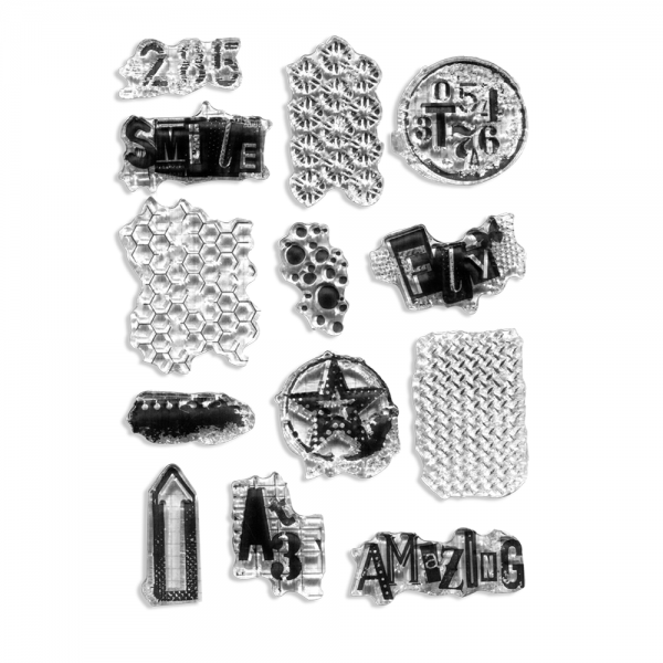 Clear Stamp Set 'Grunge Collection'
